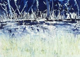 Transfigured Night, etching, 2013