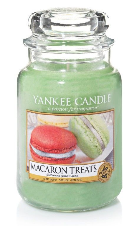 Macarons gourmands - Bougie grande jarre - Yankee Candle