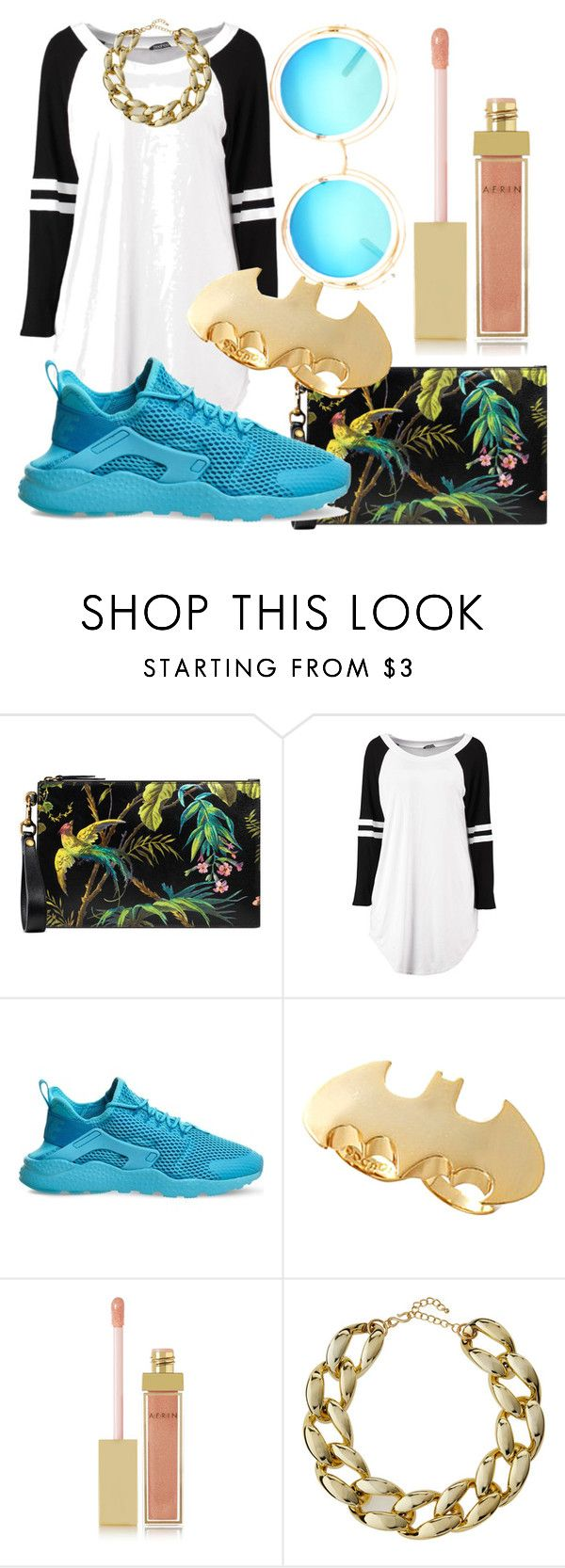 """""""Salice edited"""" by savicci on Polyvore featuring Gucci, NIKE, Noir, AERIN, Kenneth Jay Lane, shirtdress and salicerose"""