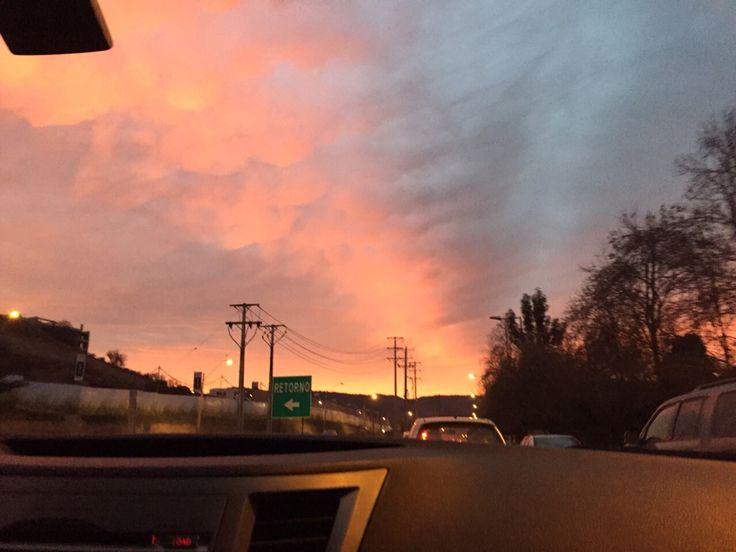 ACG // Sunset en Santiago de Chile #sinfiltro