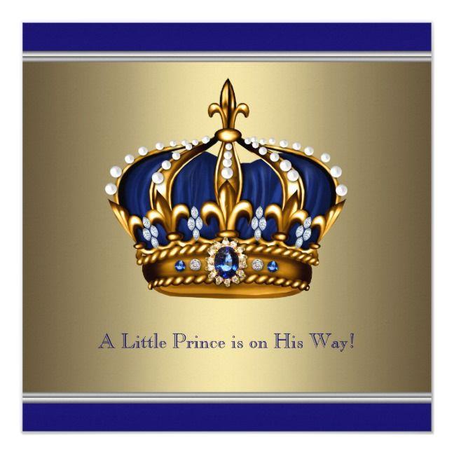 Invitación Pequeño Príncipe Boy Baby Shower De La Corona