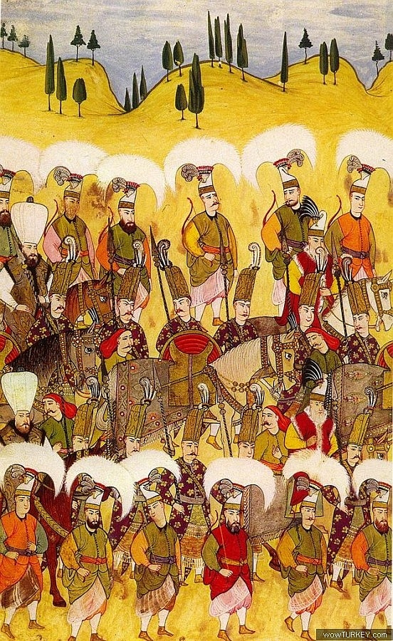 Ottoman Solaks (sultans guards) and Peiks (messengers)