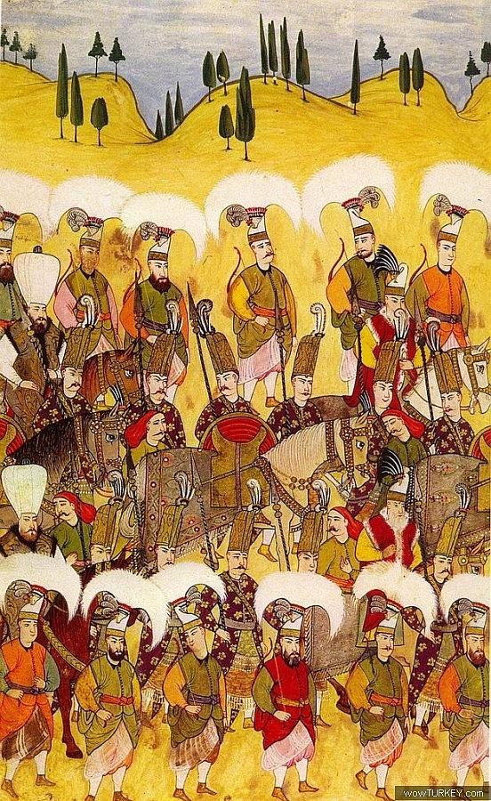 Ottoman Solaks (sultans guards) and Peiks (messengers) - Osmanlı dönemi Solaklar ve Peyk teşkilatı mensupları.