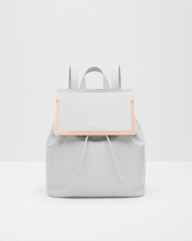Textured leather backpack - Ash | Bags | Ted Baker UK