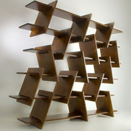 Italic shelf with endless arrangement possibilities and has a unique sculptural presence     #cnc #repisas  http://cnc.gallery/