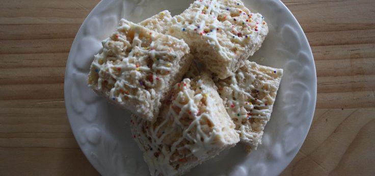 White Chocolate Rice Krispie Treats