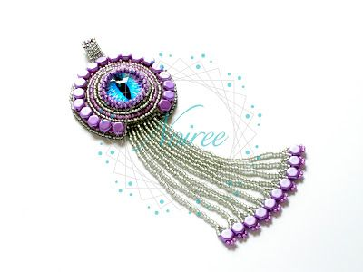 Pendant Mystic Dragon - made from Toho and Honeycomb beads #beads #embroidery #Toho