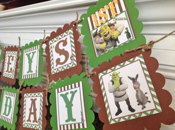 PARTY PACK SPECIAL  Shrek & Donkey Inspired by EmeraldCityPaperie, $49.00