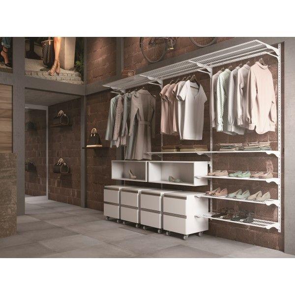 Closet Aramado - Ambiente 02 Com 2,50 Branco - Getama Moveis