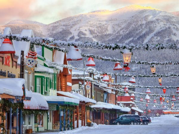 Whitefish, MT in the winter time. It almost looks like a painting!