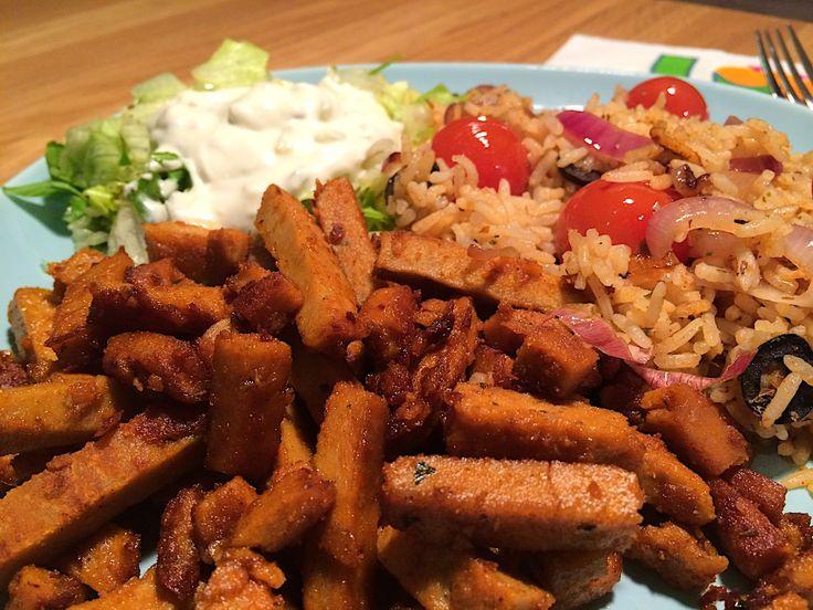 Gyros (Grieks: γύρος, jíros) is een traditioneel Grieks gerecht bestaande uit aan een grote spies gegrild varkensvlees, in reepjes gesneden en gekruid. Het lijkt enigszins op shoarma en het Mexicaanse taco al pastor. Alle drie zijn ze afgeleid van het Turkse döner kebab dat in de 19e eeuw is uitgevonden in Bursa