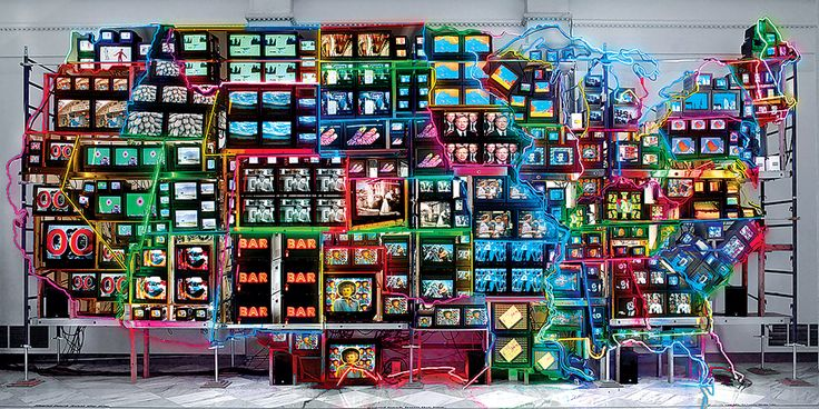 """Washington DC Bucket list for every Local """"Electronic Superhighway"""" by Gene Young/Smithsonian American Art Museum."""