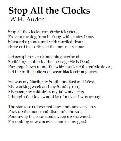 stop all the clocks   Tumblr
