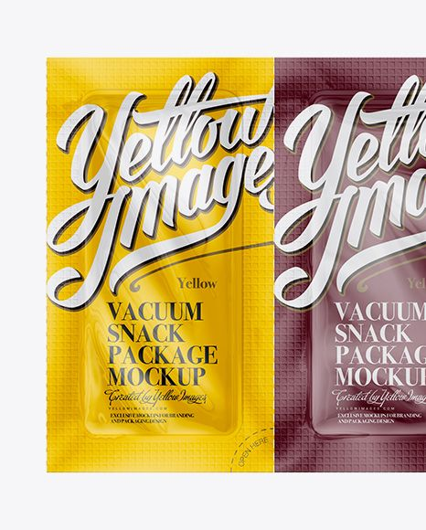 Vacuum Snack Package Mockup - Front View (Close-Up)