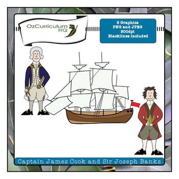 In 1770 Captain Cook charted the East coast of Australia for the first time. He was accompanied on his journey by a botanist named Joseph Banks.  This set includes three images in jpeg, png and blackline versions (9 files in total). All images are 300 dpi.  These images complement the content of the Year Four Australian History Curriculum. They are also suitable for more general studies of famous navigators, explorers and scientists.$0.00