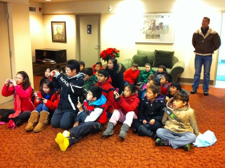 Students visiting Modernize Tailors