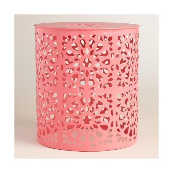 Cost Plus World Market Shell Pink Metal Soleil Drum Stool   48    liked on   Pink Outdoor FurnitureMetal. Best 25  World market outdoor furniture ideas on Pinterest   Patio