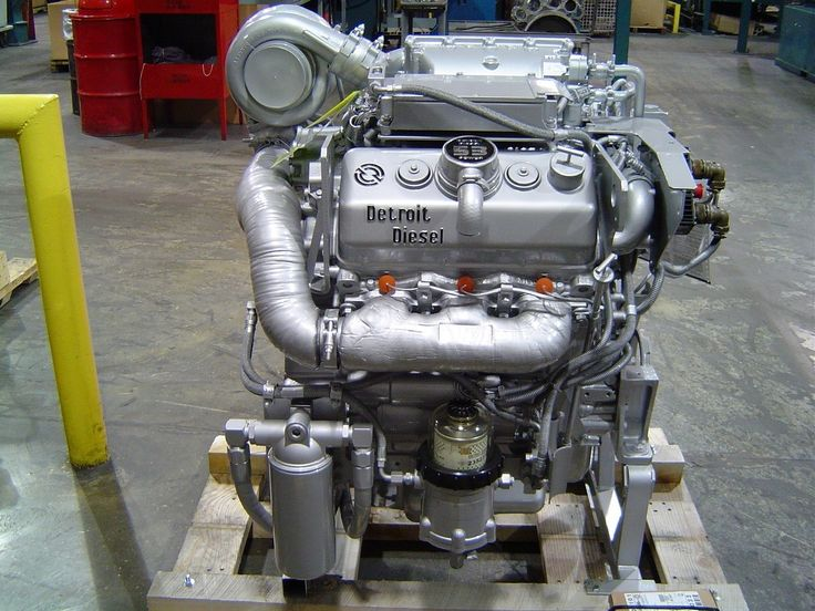 MTU Detroit Diesel is the sole manufacturer of new Detroit Diesel 2-Cycle engines such as the 6V-53 above. Description from prweb.com. I searched for this on bing.com/images