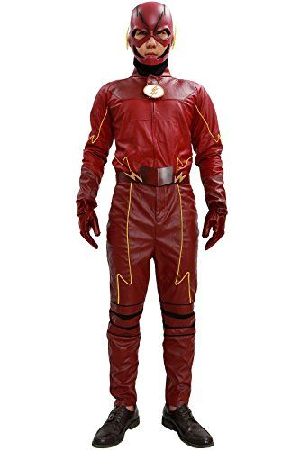 Introducing Barry Allen Mask Helmet Costume Outfit Suit for Halloween Flash Cosplay Season 2 L. Get Your Ladies Products Here and follow us for more updates!