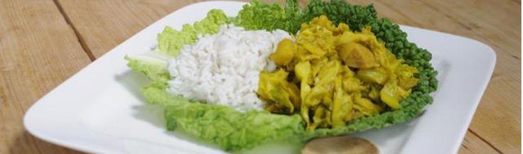 Savooiekool met kip en rijst