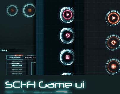 """Check out new work on my @Behance portfolio: """"3 in 1 Sci-Fi Game UI"""" http://be.net/gallery/55514333/3-in-1-Sci-Fi-Game-UI"""