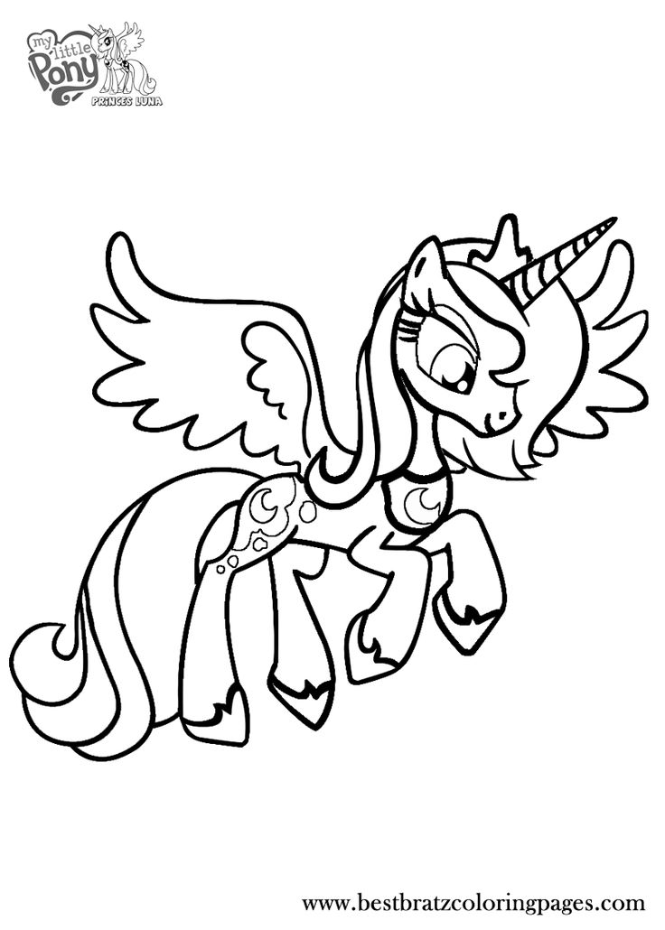 Princess Luna Coloring Pages Bratz Coloring Pages (With