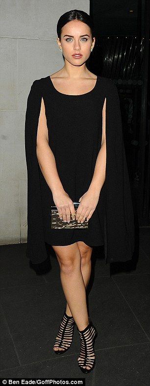 Day and night: Georgia May Foote was out for the first day of London Fashion Week on Frida...