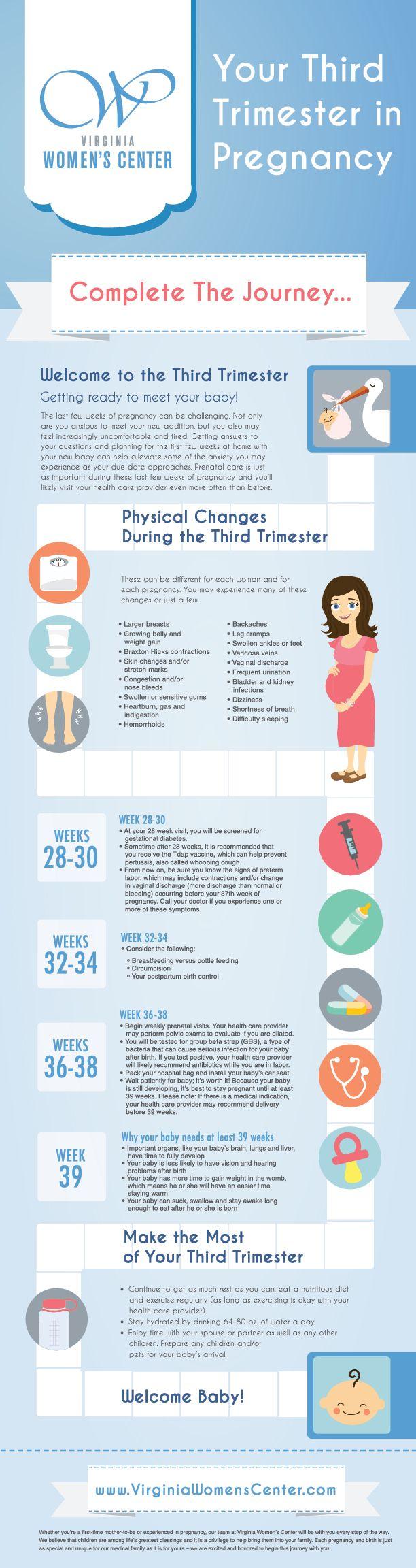 Your Third Trimester in Pregnancy | Virginia Women's Center Blog