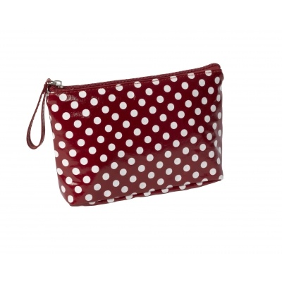 Red Polkadot Cosmetic Bag   Past Times