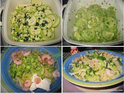 Trofie zucchine e gamberetti