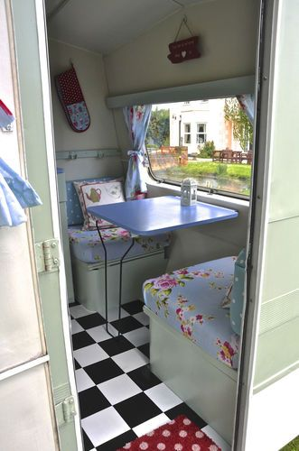 Vintage Classic 1960 70s Sprite Caravan FULLY RESTORED Shabby Chic With Awning