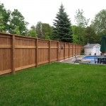 Check out this fence made from beautiful and environmentally friendly MicroPro® Sienna treated wood!