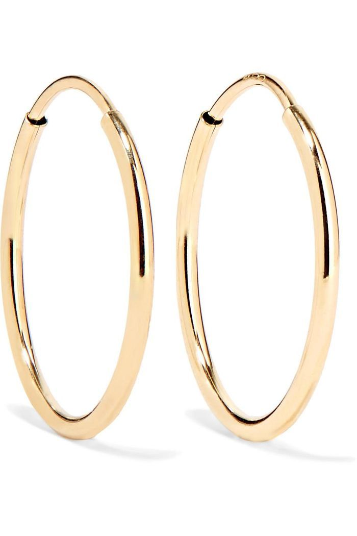 Loren Stewart Infinity 10 Karat Gold Hoop Earrings Jewelry Gold Hoop Earrings Gold Hoops