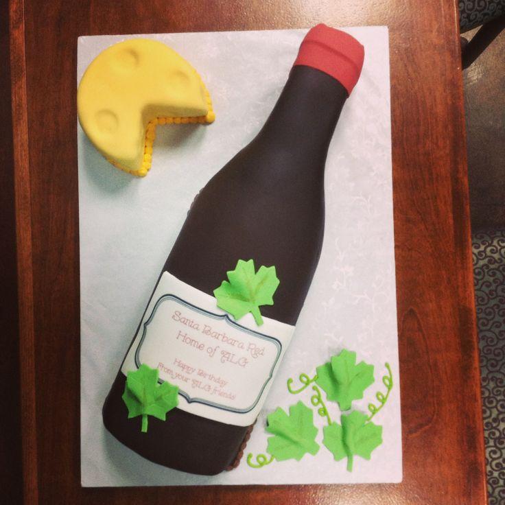 Wine Bottle Cake! Birthday cakes Pinterest Bottle ...