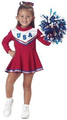 Child's Toddler Red Cheerleader Halloween Costume
