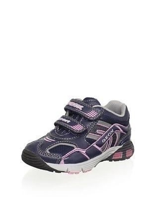 50% OFF Geox Kid's Ascari Sneaker (Navy/Pink)