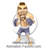MMA fighter getting ready to fight Animated Clipart