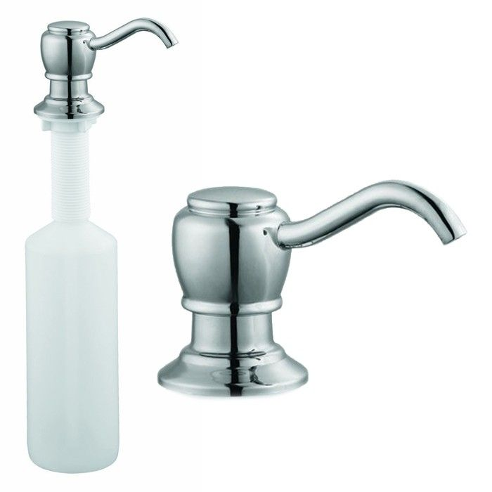 Design House 522243 Kitchen Sink Soap Dispenser Pump Polished