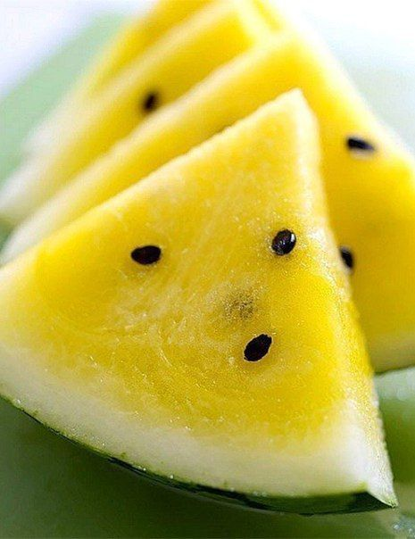 Yellow watermelon. This is surprisingly sweeter than the red ones