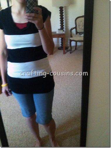 Refashion two tee shirts into an awesome bold striped shirt.  Cute and fun!: T Shirts Idea, Tees Shirts, Shirt Refashion, Stripes Shirts, Tee Shirts, Shirts Refashion, Tshirt Idea