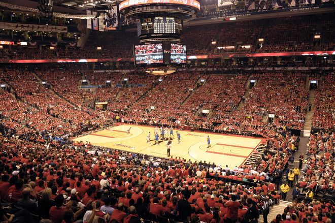 Toronto Canada Toronto Raptors Arena To Watch A