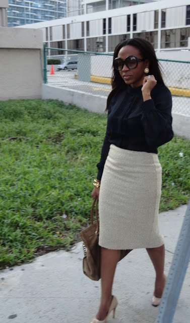 pencil skirt | nude | NuSophisticate