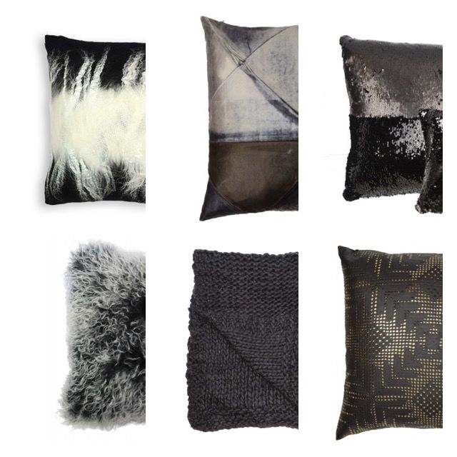 Black Cushions by award winning designer Aviva Stanoff. Contact Charlton Island for all UK enquiries. www.charltonisland.com #luxury #interiors #mermaid #home #cushion #black #textile #design #velvet #trendsetter
