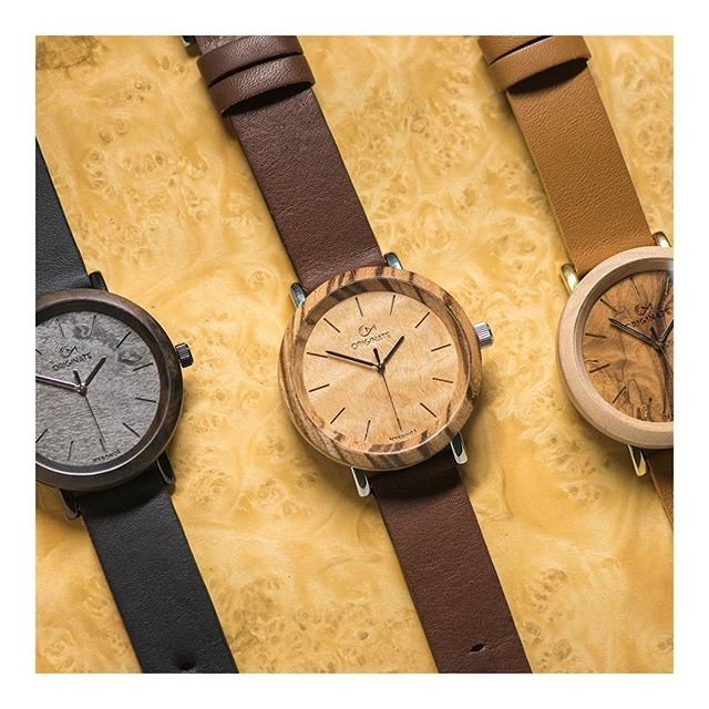 Wooden Timepieces with Italian leather straps, fully handcrafted