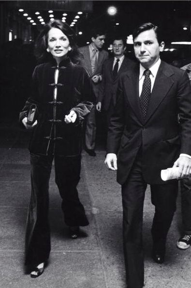 Lee Radziwill and Peter Tufo, New York City, 1975 -- WHAT CAN I SAY, CRAZY FOR VELVET!!!