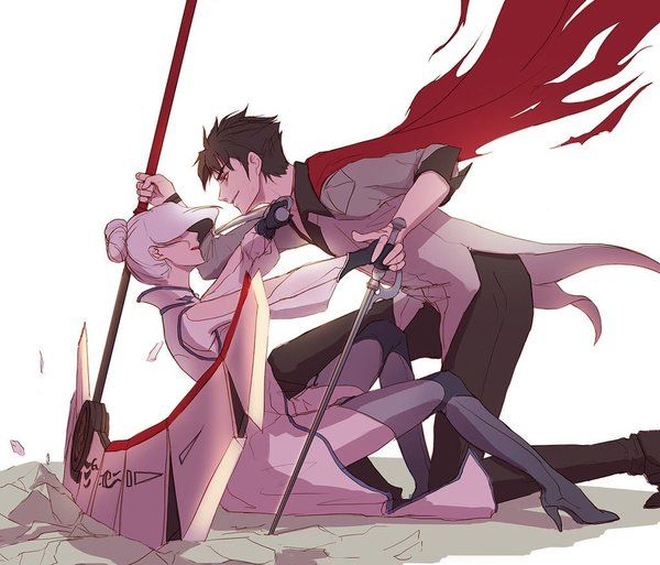 Well, this is cute.<<<] you know, besides the fact that she's falling backward onto the sharp edge of his blade