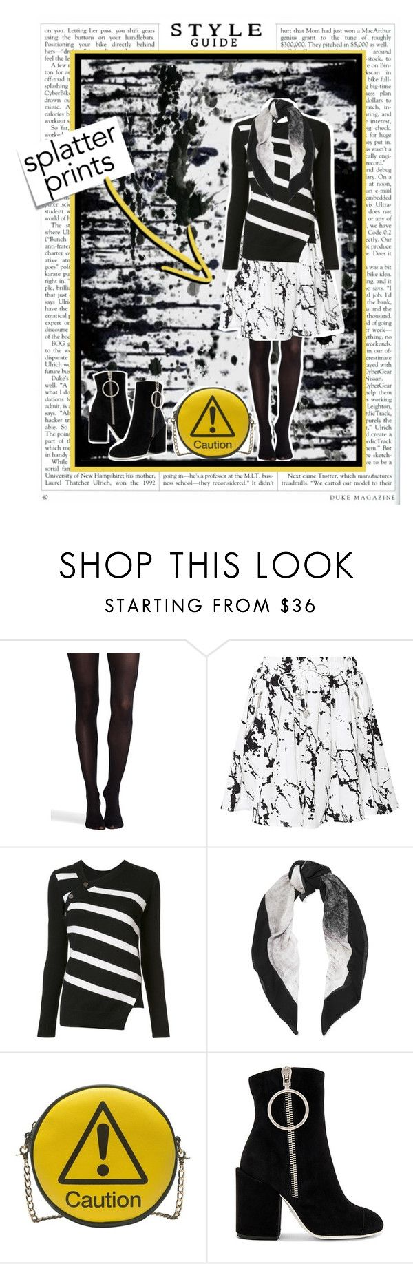 """""""Style Guide - Splatter Prints"""" by maggiecakes ❤ liked on Polyvore featuring Chanel, SPANX, Zimmermann, Post-It, Proenza Schouler, Halston Heritage, Melie Bianco and Off-White"""