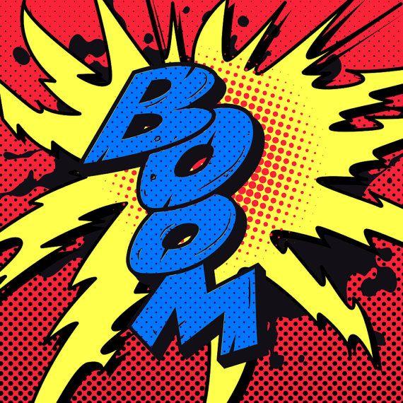Vintage Comic Book Boom Explosion. Vector Power by VectorClash