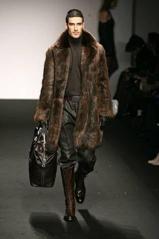 Best 25  Men's fur & faux fur coats ideas on Pinterest | Faux fur ...