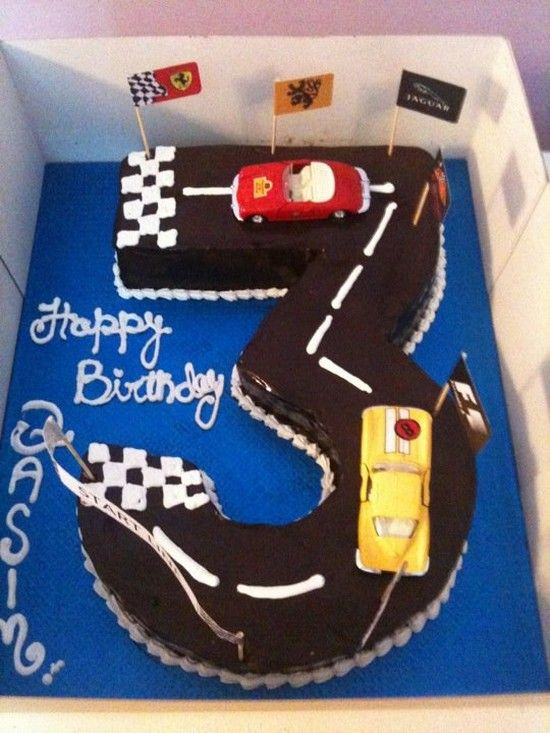 Kids Birthday Cake (3) racing cars,  Go To www.likegossip.com to get more Gossip News!